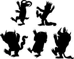Where the wild things are monster clipart svg black and white library where the Wild Things Are, silhouettes - Google Search ... svg black and white library