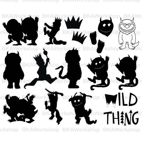 Wild things clipart svg stock Wild thing svg - Wild Things Are svg - Where the Wild Things ... svg stock