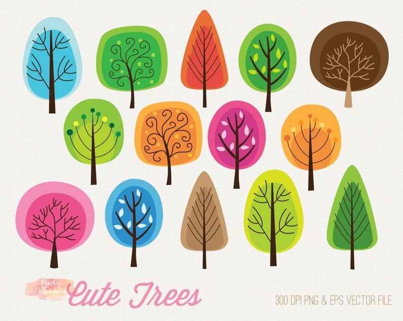 Where to buy cute clipart clip art stock Download Free png BUY 2 GET 1 FREE Cute Colorful trees ... clip art stock