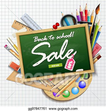 Where to find clipart for school websites clipart royalty free download EPS Illustration - Back to school sale banner for websites ... clipart royalty free download