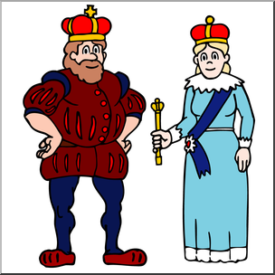 Wheres the royal family clipart vector freeuse library Clip Art: Royal Family: King and Queen Color I abcteach.com ... vector freeuse library