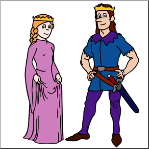 Wheres the royal family clipart vector Clip Art: Royal Family: Princess and Prince Color I abcteach ... vector