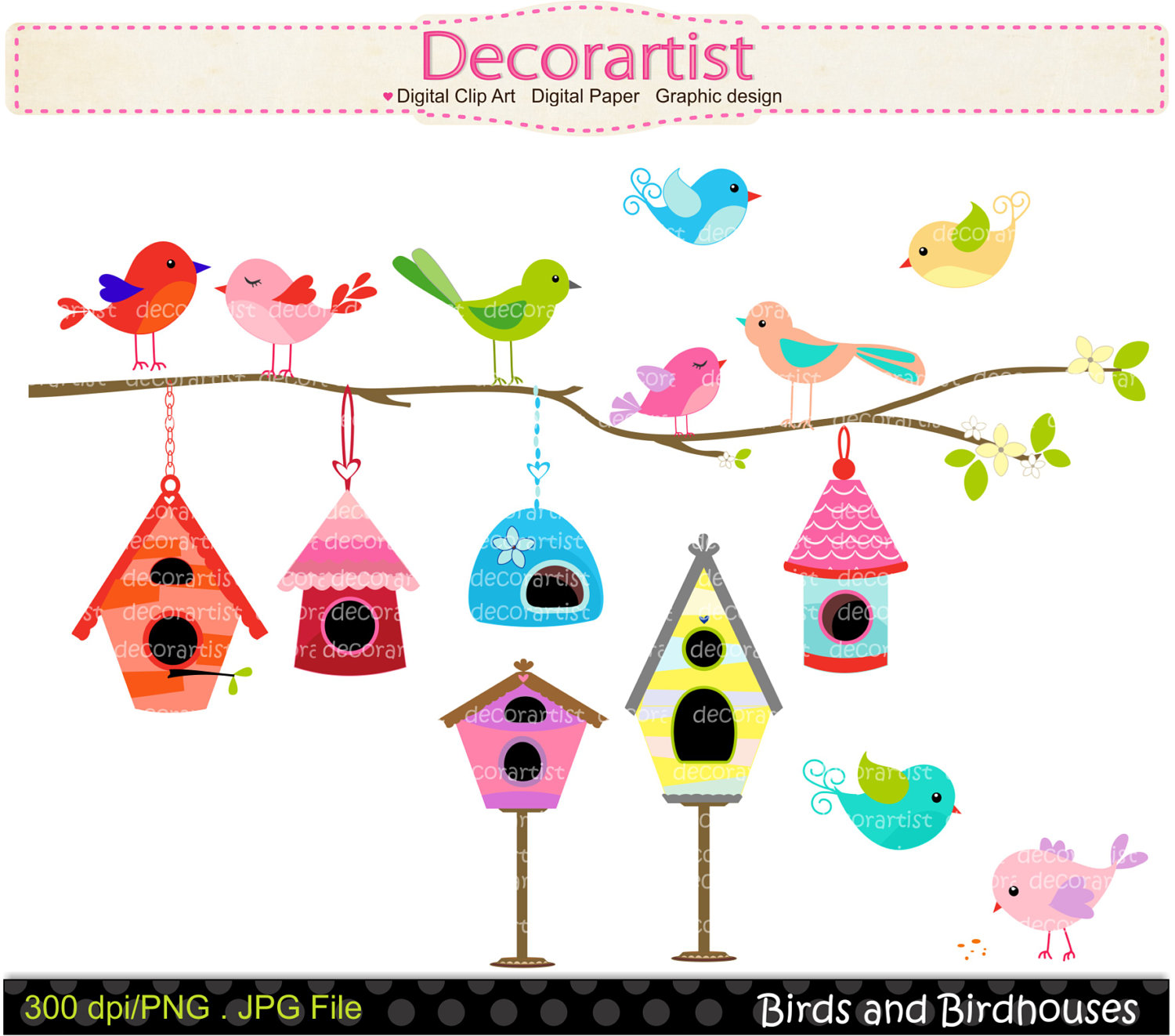 Whimsical houses clipart images png transparent stock Free Birdhouse Border Cliparts, Download Free Clip Art, Free ... png transparent stock