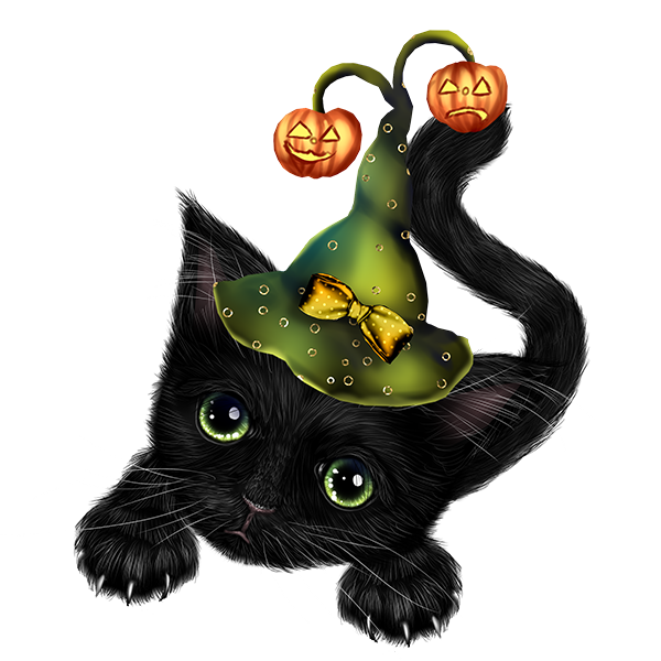 Whimsical halloween clipart clip transparent stock Pin by Paula Constantinescu on Cute Clipart 1 | Pinterest ... clip transparent stock
