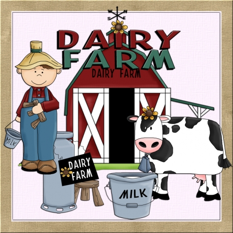 Whimsical farm clipart svg free stock Dairy Farmer Clip Art Whimsical Graphics - Clip Art Library svg free stock