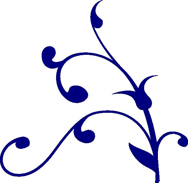 Whimsical flower clipart jpg royalty free Blue Whimsical Clip Art at Clker.com - vector clip art online ... jpg royalty free
