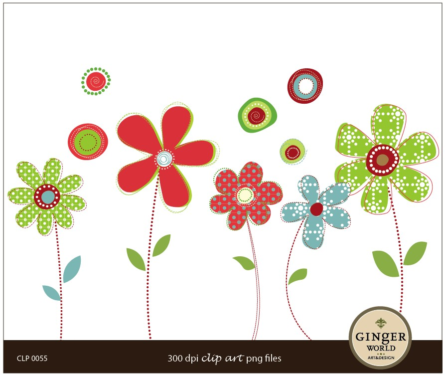 Whimsical flowers clip art svg royalty free library Whimsical flowers clip art - ClipartFest svg royalty free library