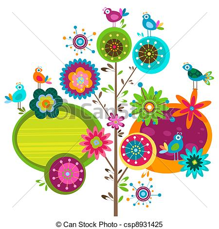 Whimsical flowers clip art graphic freeuse library Whimsical Illustrations and Clipart. 6,308 Whimsical royalty free ... graphic freeuse library