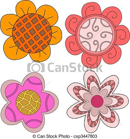 Whimsical flowers clip art image library 17 Best images about Doodling Whimsical Flowers, birds, and ... image library