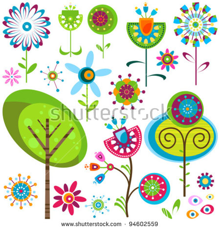 Whimsical flowers clip art clip free Whimsical Flowers Stock Images, Royalty-Free Images & Vectors ... clip free