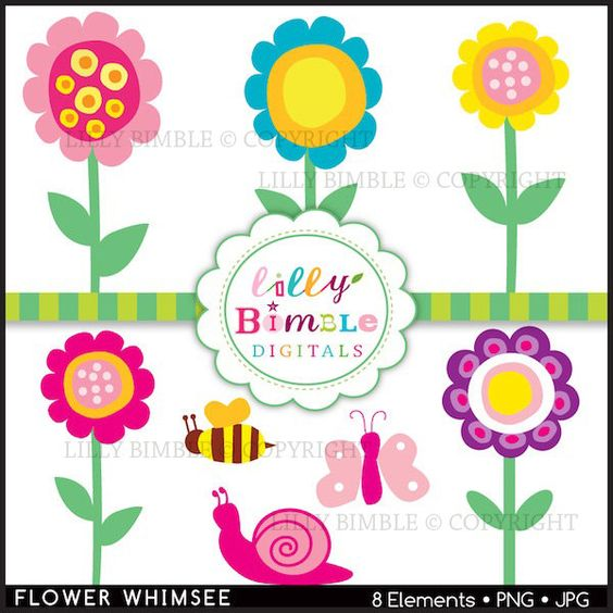 Whimsical flowers clip art svg free download Whimsical Flowers Clip Art   Whimsical Flower Clip Art Whimsical ... svg free download