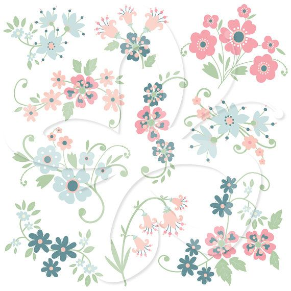 Whimsical flowers clip art download 17 Best images about Flowers on Pinterest   Clip art, Flower and ... download