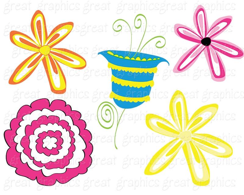 Whimsical flowers clip art clipart stock Whimsical Flowers Clipart - Clipart Kid clipart stock