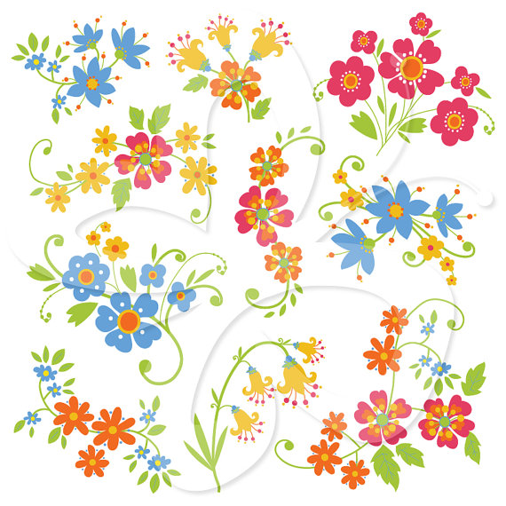 Whimsical flowers clip art clip royalty free Whimsical flowers clip art - ClipartFest clip royalty free