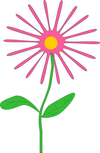Whimsical flowers clip art clip art royalty free library Jenni Whimsical Pink Flower clip art Free vector in Open office ... clip art royalty free library