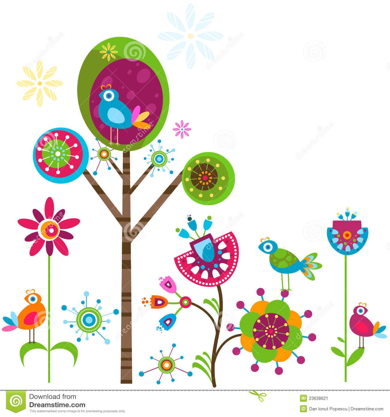 Whimsical flowers clip art clip art transparent stock Whimsy Flowers Stock Image - Image: 23638621 clip art transparent stock