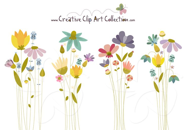 Whimsical flowers clip art royalty free download Whimsical flowers clip art - ClipartFest royalty free download