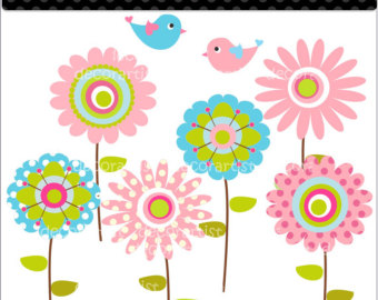 Whimsical flowers clip art picture transparent library Whimsical Flowers Clipart - Clipart Kid picture transparent library