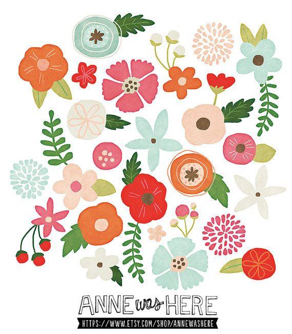 Whimsical flowers clip art clip art royalty free download Whimsical Flowers Clipart - Clipart Kid clip art royalty free download