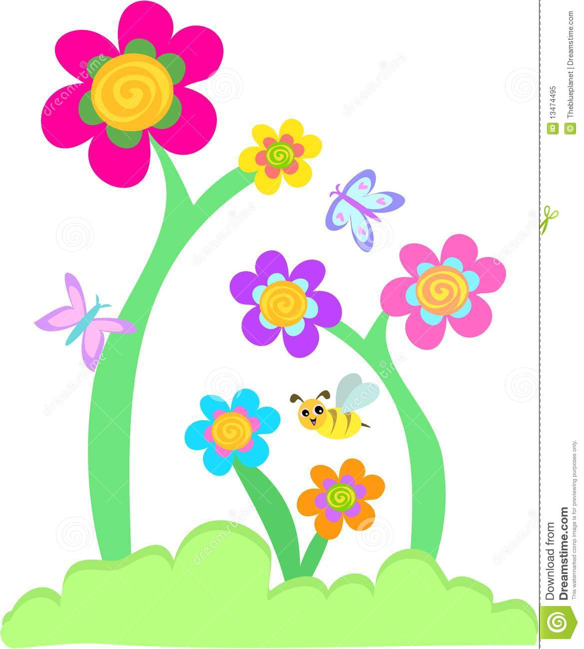 Whimsical flowers clip art picture freeuse library Whimsical Flowers Clipart - Clipart Kid picture freeuse library