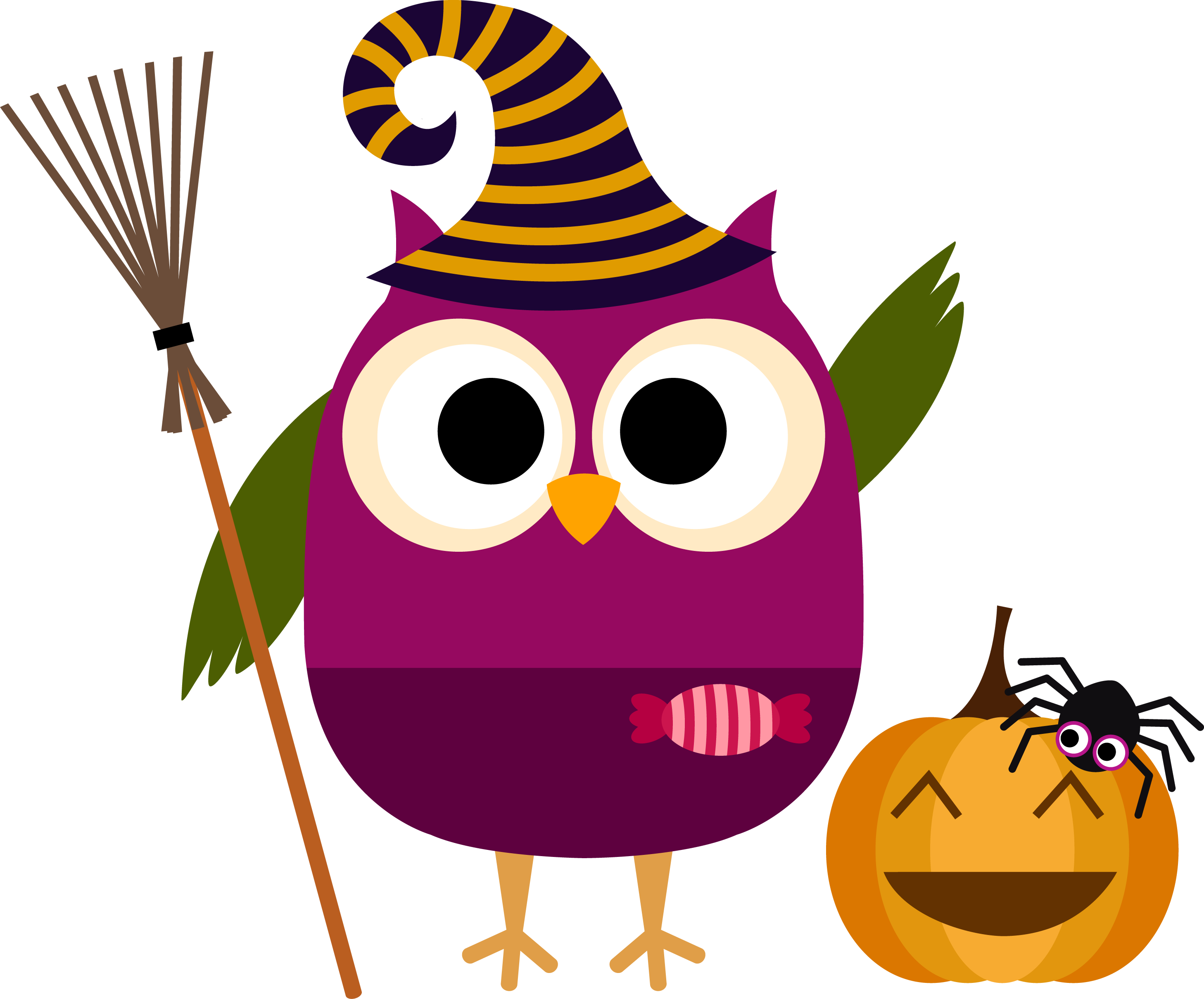 Whimsical halloween clipart image transparent bc3baho-halloween.png (Imagen PNG, 2915 × 2419 píxeles) - Escalado ... image transparent