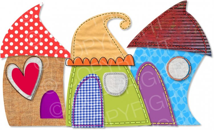 Whimsical houses clipart images clip royalty free Whimsical Collage Houses ClipArt – Prawny Clipart Cartoons ... clip royalty free