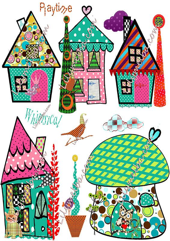 Whimsical houses clipart images picture transparent library whimsical houses/png /clipart scrapbook/journal art ... picture transparent library