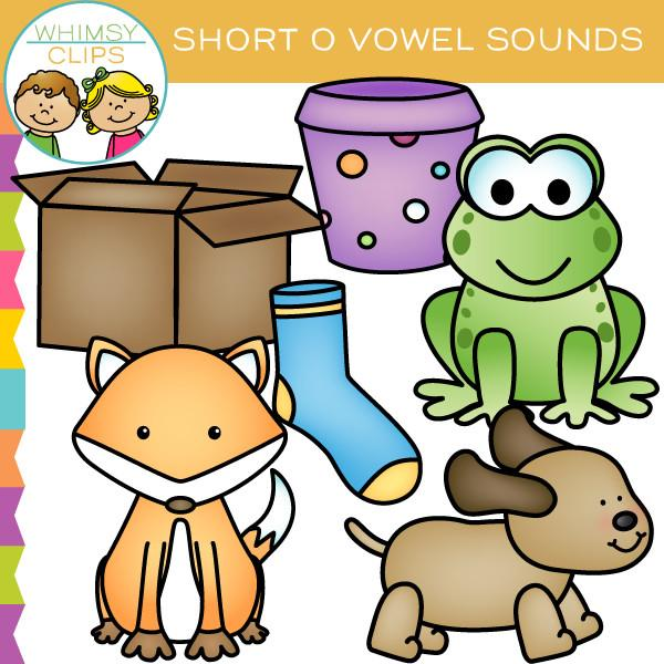 Whimsical o clipart picture royalty free library Short O Vowel Sounds Clip Art picture royalty free library