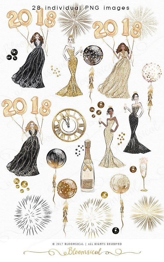 Whimsical o clipart image library library Celebrate New Years Eve in glam & style! This whimsical ... image library library