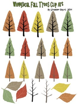 Whimsical pine tree clipart clip art transparent Whimsical Fall Trees Clip Art clip art transparent