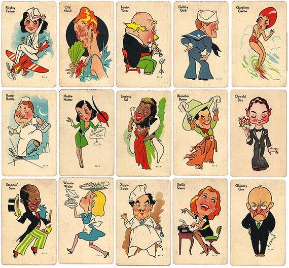 Whimsicalmaid art clipart royalty free library Vintage Old Maid Card Game - Ephemera -Clip Art - Digital ... royalty free library