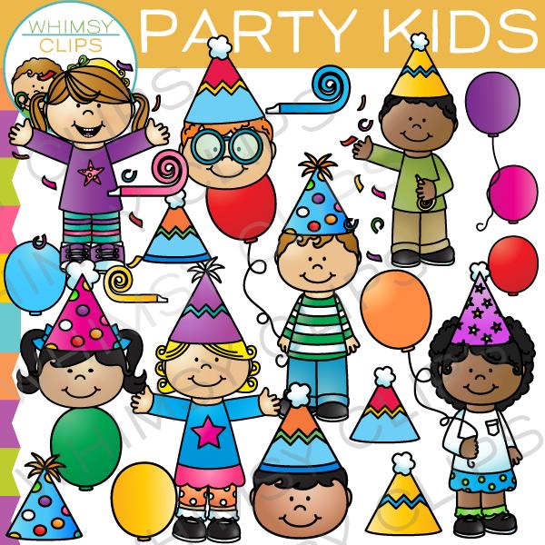 Whimsy clips clipart celebration jpg transparent Party Kids Clip Art jpg transparent