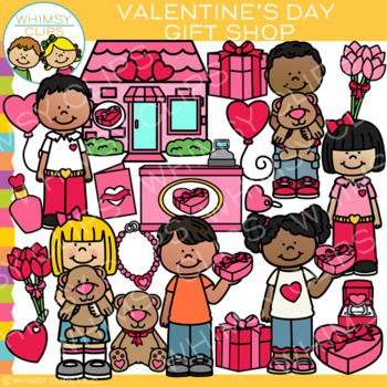 Whimsy clips clipart celebration download Valentine\'s Day Gift Shop Clip Art download