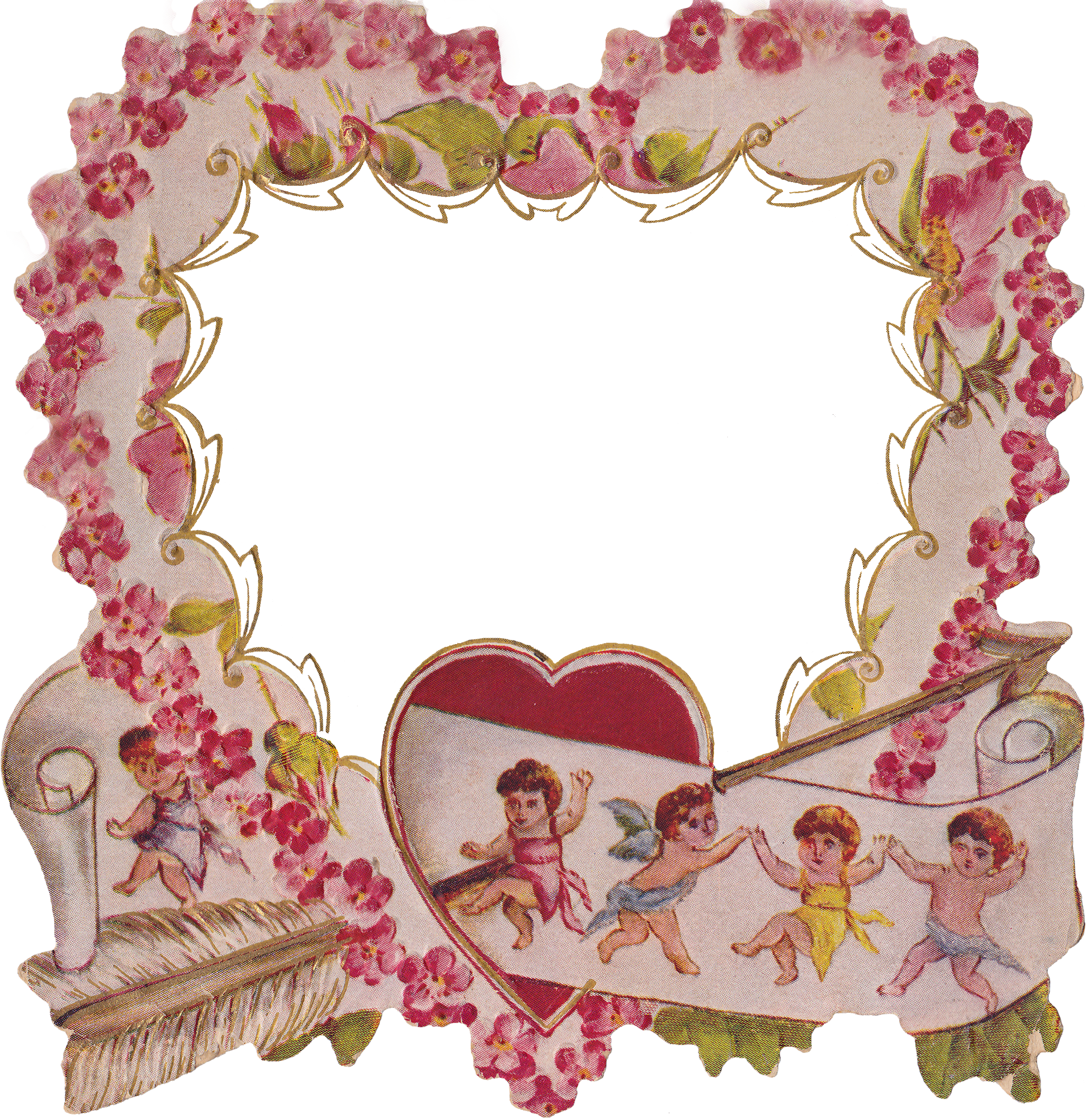 """Whimsy heart clipart banner transparent library Die Cut Heart & """"Love And Esteem"""" Poem – Wings of Whimsy banner transparent library"""
