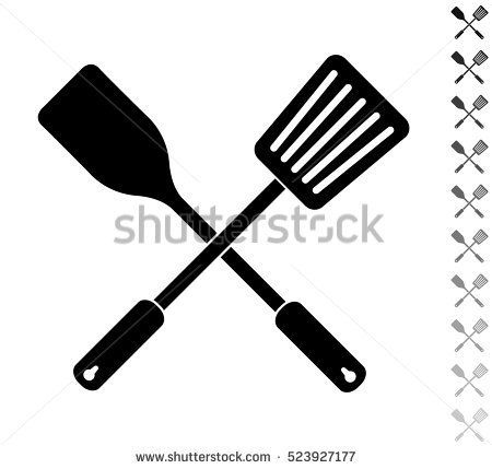 Whisk and spatula crossing clipart vector black and white download Kitchen clipart spatula - 41 transparent clip arts, images ... vector black and white download