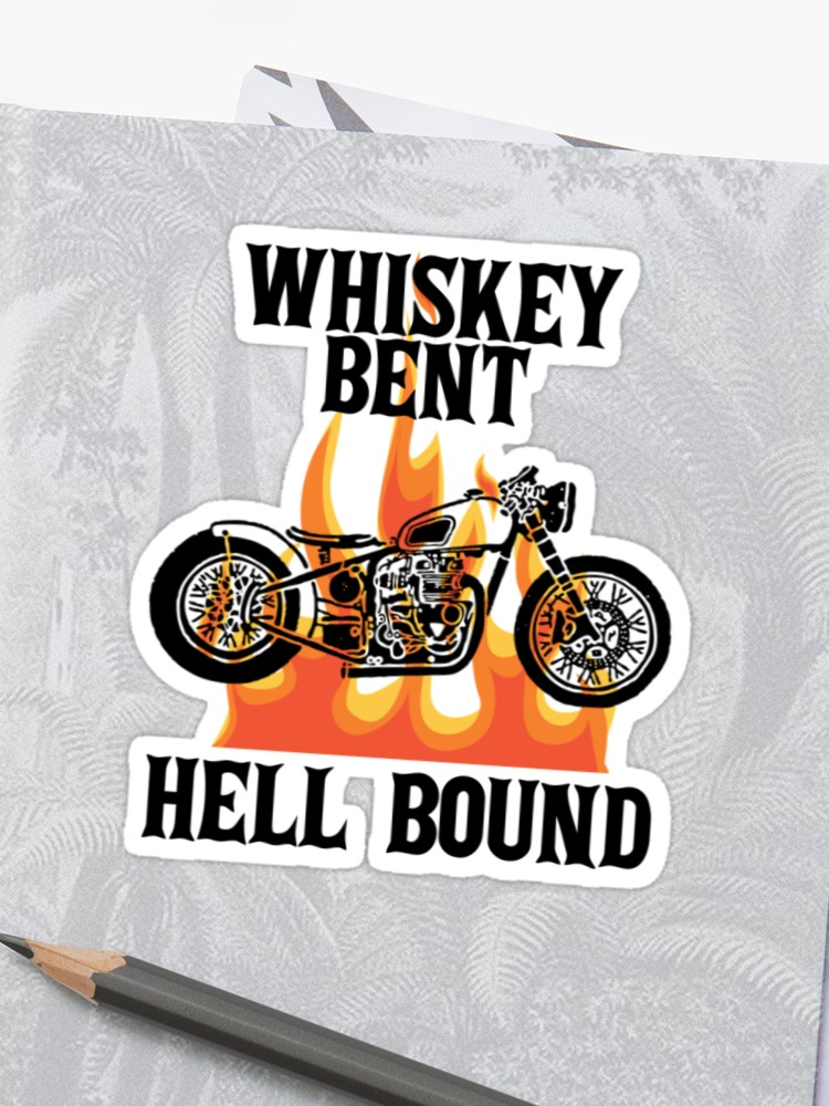 Whiskey bent andhell bound clipart png royalty free stock Whiskey Bent Hell Bound Motorcycle Biker | Sticker png royalty free stock