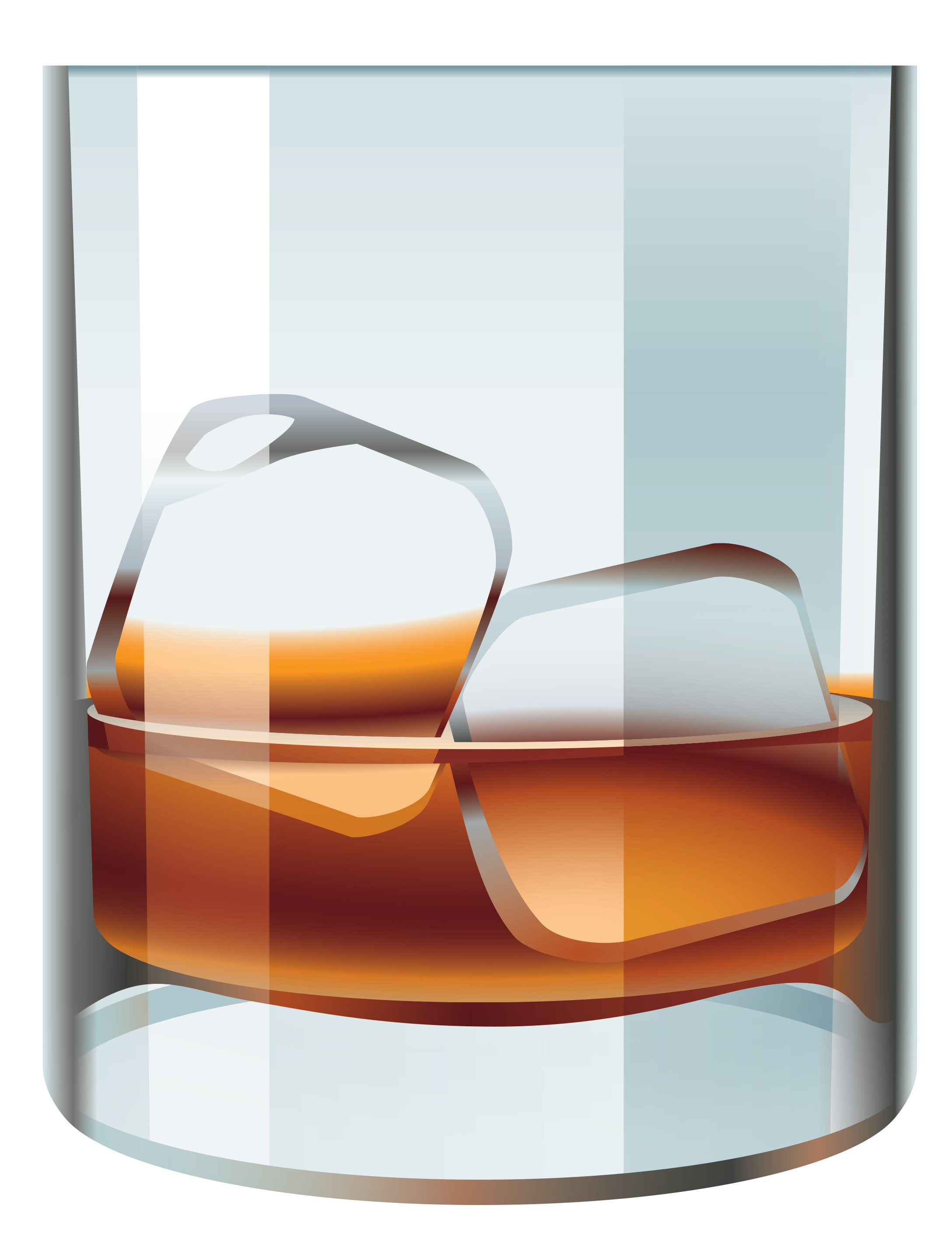 Whiskey hi resolution clipart banner freeuse library Glass with Whiskey and Ice PNG Vector Clipart | Gallery ... banner freeuse library