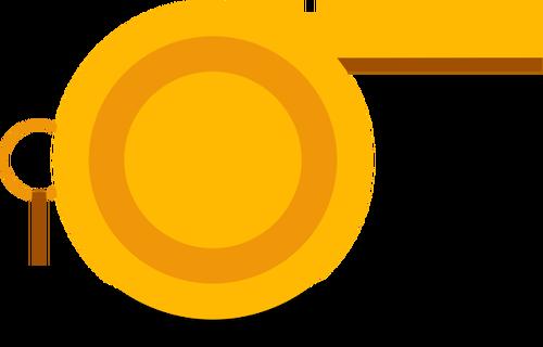 Whistle clipart vector svg Orange whistle vector image | Public domain vectors svg