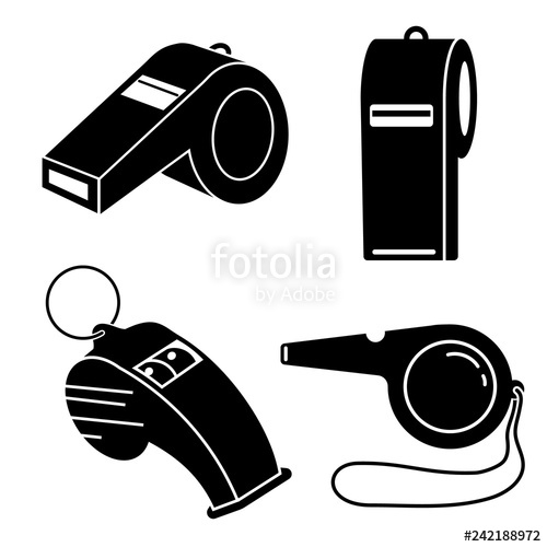Whistle clipart vector vector black and white download Whistle icon set. Simple set of whistle vector icons for web ... vector black and white download