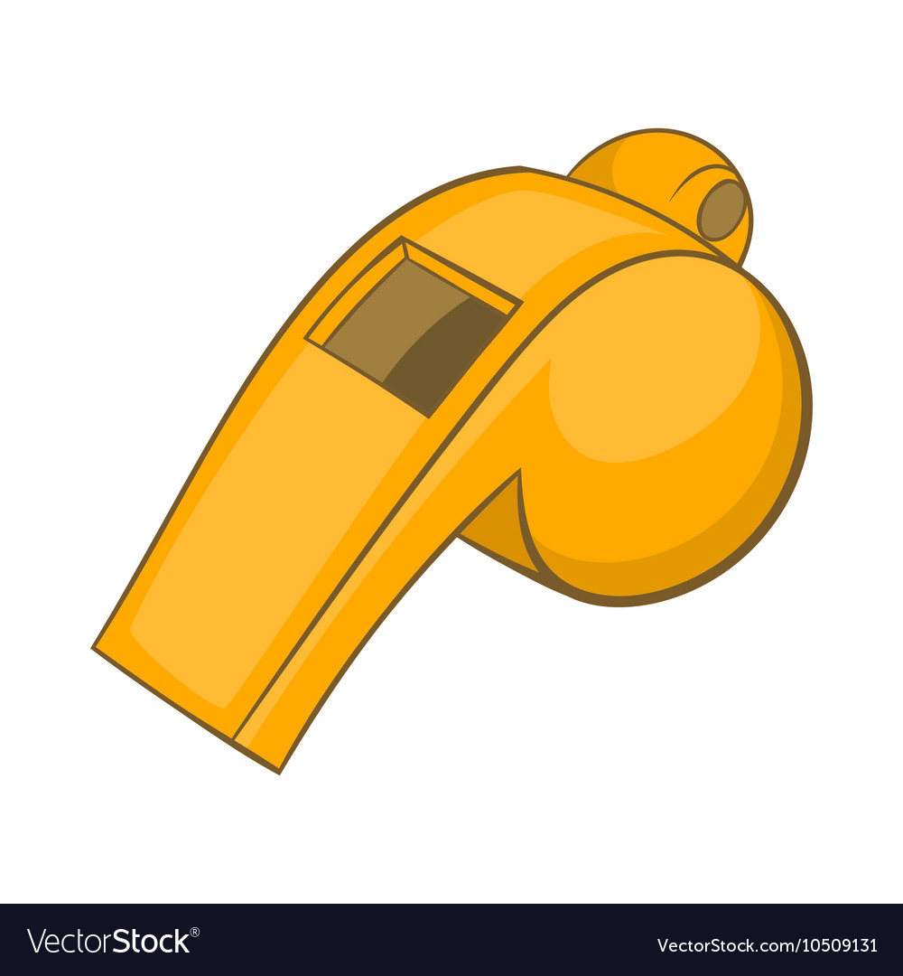 Whistle clipart vector png library stock Whistle of referee icon cartoon style png library stock