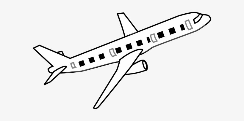 Avion clipart black and white clip art library Airplane Clipart Black And White - Aeroplane Clipart Black ... clip art library