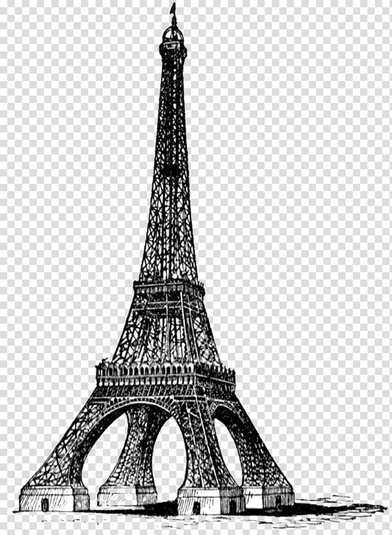 White and black eiffel tower drawing side view clipart clipart library Gray and black Eiffel tower , Eiffel Tower Bw Full Vintage ... clipart library