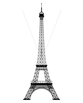 White and black eiffel tower drawing side view clipart vector free download free printables eiffel tower - Google Search   CRAFT ... vector free download