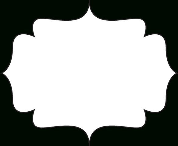 White and black label clipart vector free stock Clip Art Black And White   Black And White Bracket Frame ... vector free stock