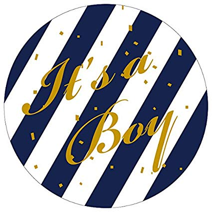 White and navy label clipart