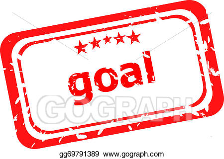 White and red goal clipart clip library Drawing - Goal red rubber stamp over a white background ... clip library