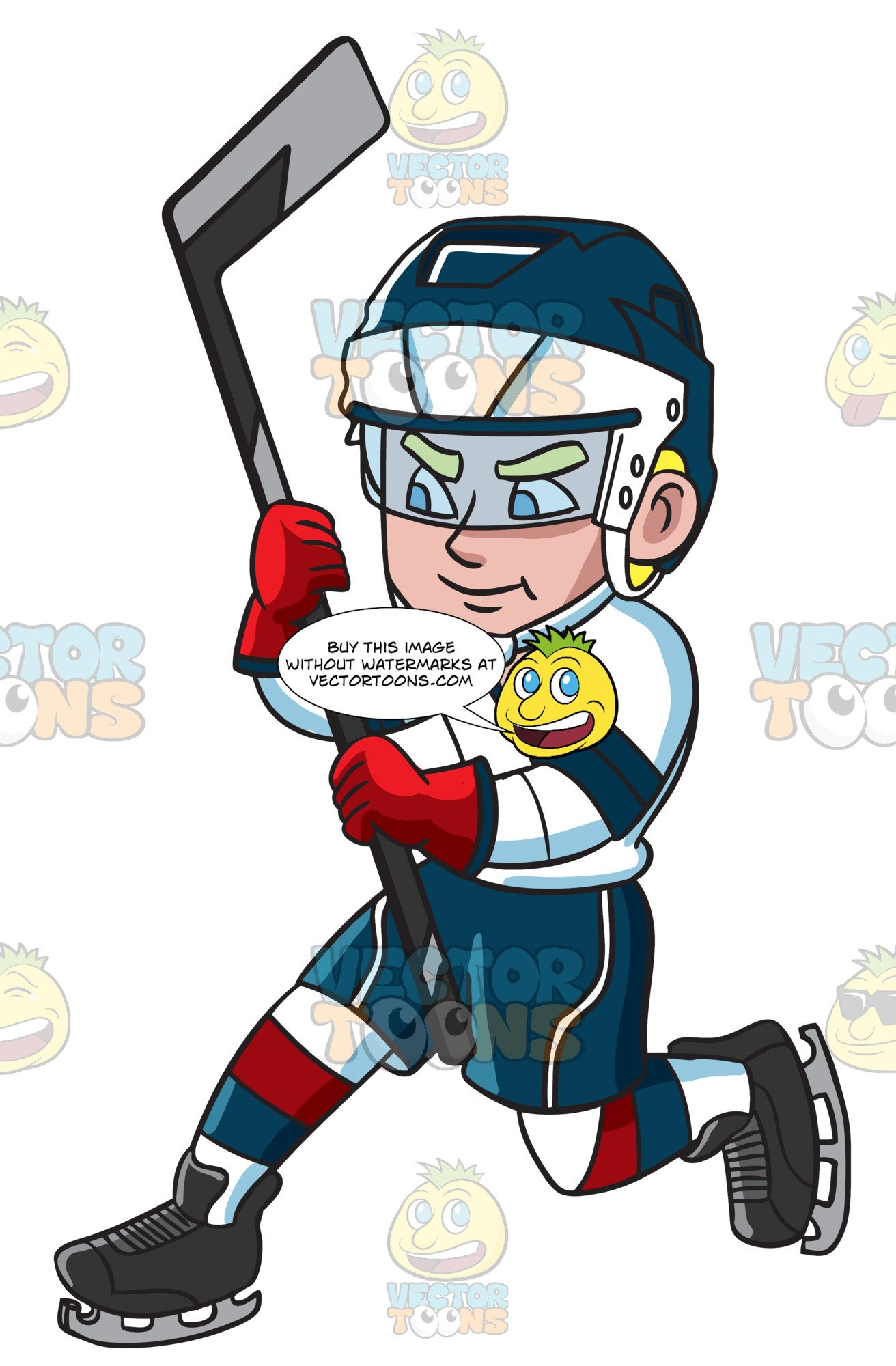 White and red goal clipart picture black and white library A Hockey Player After Hitting The Puck For A Shot At The Goal picture black and white library
