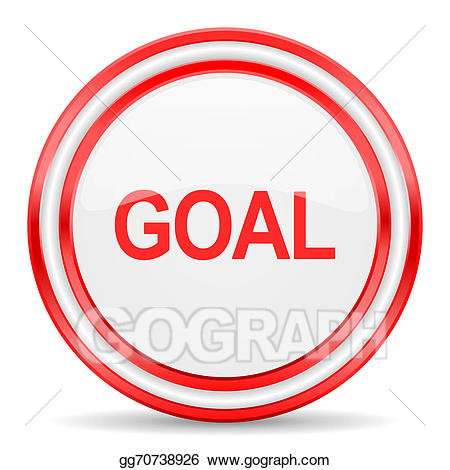 White and red goal clipart free Stock Illustration - Goal red white glossy web icon. Stock ... free