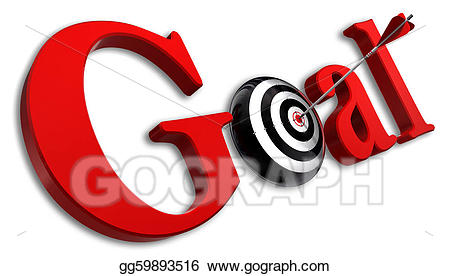 White and red goal clipart clipart free stock Stock Illustration - Goal red word and conceptual target ... clipart free stock