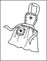 White art apron clipart royalty free library simple apron clip art | aprons | Coloring pages, Apron, Color royalty free library